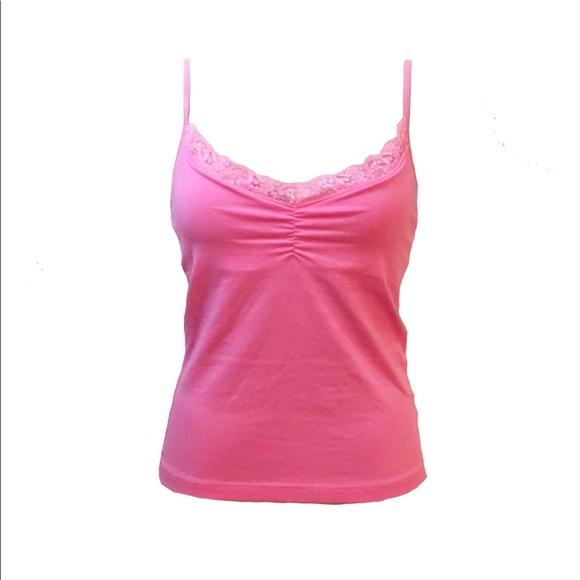6e8ee4fd1b Lilly Pulitzer Tops - LILLY PULITZER Lace Trim Pink Shelf Bra Cami L GUC